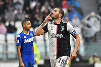Leonardo Bonucci of Juventus celebrates after scoring a goal<br /> Torino 1-12-2019 Juventus Stadium <br /> Football Serie A 2019/2020 <br /> Juventus FC - US Sassuolo 2-2 <br /> Photo Giuliano Marchisciano / Insidefoto