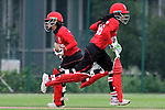 Natural Yip Sze Wan (l) and Yasmin Daswani of Hong Kong in action during the ICC 2016 Women's World Cup Asia Qualifier match between  Hong Kong and Nepal on 09 October 2016 at the Tin Kwong Road Cricket Recreation Ground in Hong Kong, China. Photo by Marcio Machado / Power Sport Images