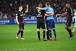 10.03.2018, BayArena, Leverkusen , GER, 1.FBL., Bayer 04 Leverkusen vs. Borussia Moenchengladbach<br /> im Bild / picture shows: <br /> freuen sich nach Ende des Spiels Bernd Leno Torwart (Leverkusen #1), Sven Bender (Leverkusen #5), Julian Baumgartlinger (Leverkusen #15), <br /> <br /> <br /> Foto © nordphoto / Meuter