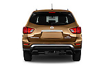 Straight rear view of 2018 Nissan Pathfinder Platinum 5 Door SUV Rear View  stock images
