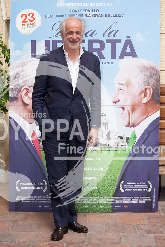 "Italian actor Toni Servillo attends the ""Viva la Libertad' (Viva la Liberta)  film photocall at the Instituto Italiano de la Cultura in Madrid on May 13, 2014. Photo by Nacho Lopez / DyD Fotografos-DYDPPA"