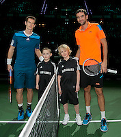 Rotterdam, The Netherlands. 14.02.2014. ABN AMRO World Tennis Tournament Andy Murray(GRB) and Marin Cilic(KRO)<br /> Photo:Tennisimages/Henk Koster