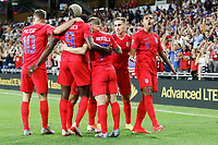 St. Paul, MN - Tuesday June 18, 2019: USMNT players celebrate during a 2019 CONCACAF Gold Cup group D match between the United States and Guyana on June 18, 2019 at Allianz Field in Saint Paul, Minnesota.