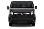 Straight Front View of 2015 Opel Vivaro Edition 4 Door Cargo Van 2WD Stock Photo