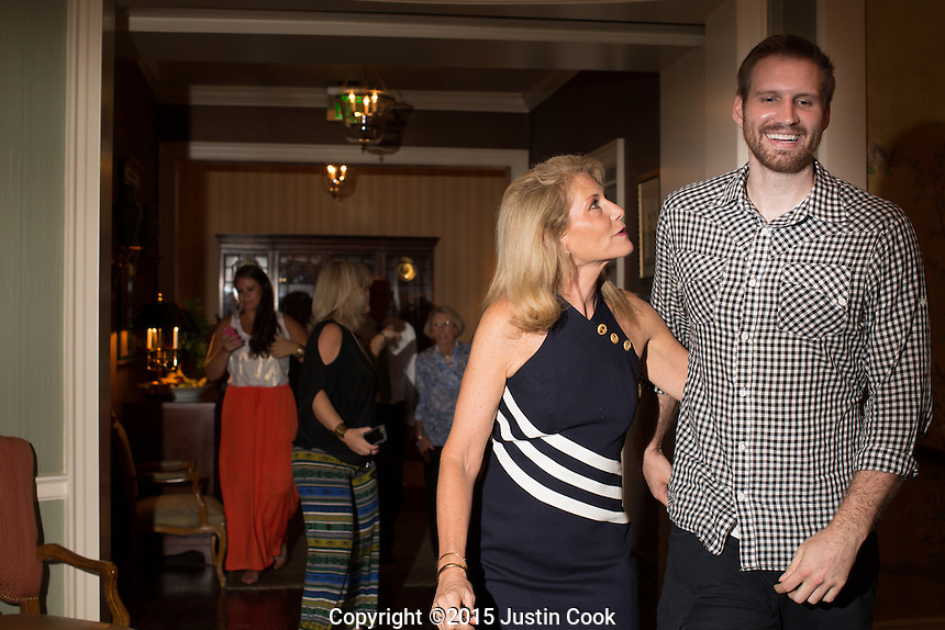 FROM LEFT: Shav and his mother, Kim, joke during grandmother Gigi's 79th birthday at the Carolina Country Club in Raleigh, N.C. on Friday, July 3, 2015. (Justin Cook)