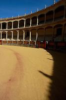 Inside the Plaza de Toros de Ronda, a bullring arena in Ronda, Andalusia, Spain.