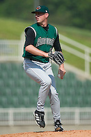Augusta starting pitcher Steven Calicutt in action versus Kannapolis at Fieldcrest Cannon Stadium in Kannapolis, NC, Wednesday, May 2, 2007.