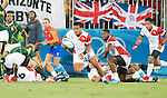 Lomano Lava Lemeki (JPN), AUGUST 11, 2016 - Rugby : Men's bronze medal match between Japan 14- 54 South Africa at Deodoro Stadium during the Rio 2016 Olympic Games in Rio de Janeiro, Brazil. (Photo by Enrico Calderoni/AFLO SPORT)