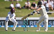 9th December 2017, Seddon Park, Hamilton, New Zealand; International Test Cricket, 2nd Test, Day 1, New Zealand versus West Indies;  Colin de Grandhomme batting