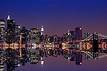 Nightshot of New York City's skyline.