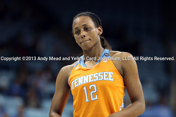 11 November 2013: Tennessee's Bashaara Graves. The University of North Carolina Tar Heels played the University of Tennessee Lady Vols in an NCAA Division I women's basketball game at Carmichael Arena in Chapel Hill, North Carolina. Tennessee won the game 81-65.