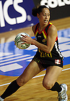 Magic wing attack Frances Solia during the ANZ Netball Championship match between the Waikato Bay of Plenty Magic and Adelaide Thunderbirds, Mystery Creek Events Centre, Hamilton, New Zealand on Sunday 19 July 2009. Photo: Dave Lintott / lintottphoto.co.nz