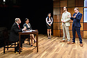 """CHINGLISH, by David Henry Hwang, opens at the Park Theatre. Directed by Andrew Keates, with lighting design by Christopher Nairne and set and costume design by Tim McQuillen-Wright. Picture shows: Lobo Chan (Cai Guoliang), Candy Ma (Xi Yan), Siu-see Hung (Qian), Duncan Harte (Peter Timms), Gyuri Sarossy (Daniel)"