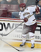 Patrick Wey (BC - 6) - The Boston College Eagles defeated the visiting University of Massachusetts Lowell River Hawks 6-3 on Sunday, October 28, 2012, at Kelley Rink in Conte Forum in Chestnut Hill, Massachusetts.