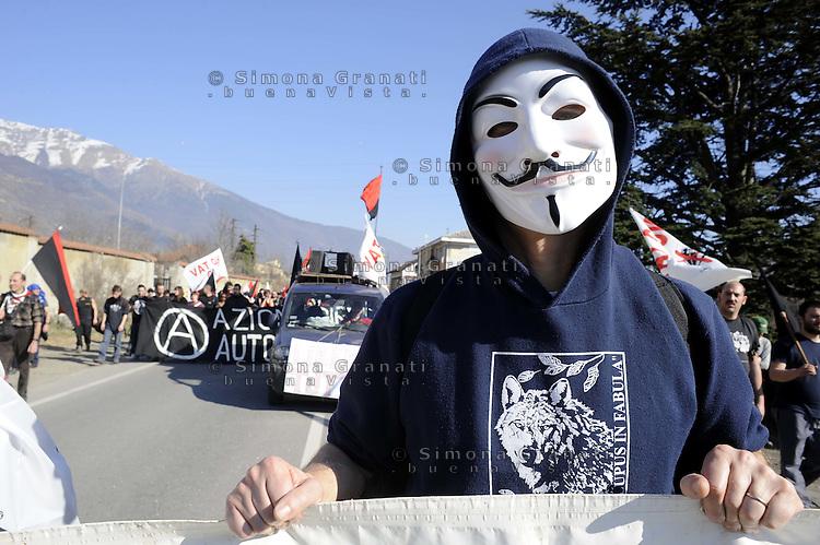 Val Susa .Corteo contro la TAV e per la liberazione degli arrestati per la manifestazione al cantiere del 3 Luglio