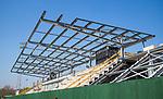 AMSTELVEEN-HOCKEY - Tribune van het Wagener  Stadion in aanbouw .  COPYRIGHT KOEN SUYK