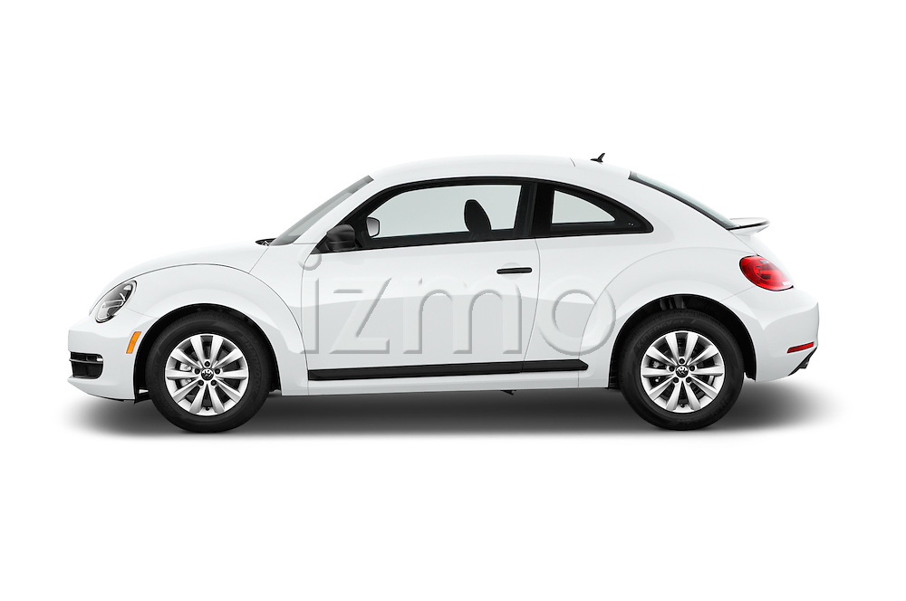 Car Driver side profile view of a 2016 Volkswagen Beetle 1.8T-S-Auto-PZEV 3 Door Hatchback Side View