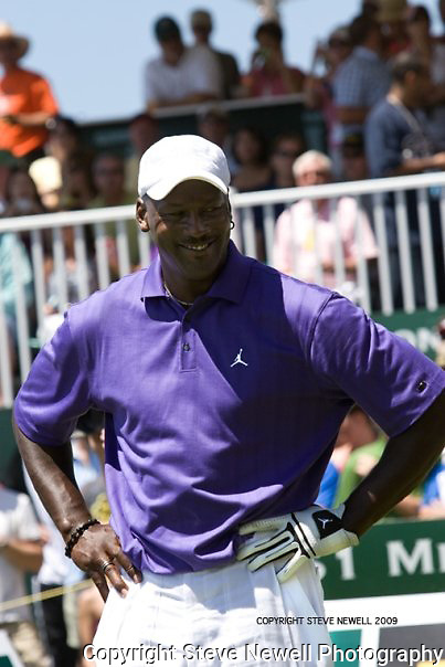 Michael Jordan at the American Century Celebrity Golf Tournament in Lake Tahoe.  I covered this event several times for the local newspaper and the San Francisco Examiner's website.