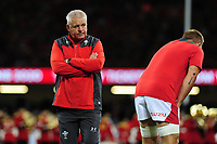Head Coach Warren Gatland of Wales during the under armour summer series 2019 match between Wales and Ireland at the Principality Stadium, Cardiff, Wales, UK. Saturday 31st August 2019