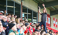 Fleetwood Town fans cheer on their team in the second half<br /> <br /> Photographer Alex Dodd/CameraSport<br /> <br /> The EFL Sky Bet League One - Fleetwood Town v Accrington Stanley - Saturday 15th September 2018  - Highbury Stadium - Fleetwood<br /> <br /> World Copyright &copy; 2018 CameraSport. All rights reserved. 43 Linden Ave. Countesthorpe. Leicester. England. LE8 5PG - Tel: +44 (0) 116 277 4147 - admin@camerasport.com - www.camerasport.com