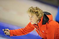 SCHAATSEN: HEERENVEEN: IJsstadion Thialf, 31-10-2012, Perspresentatie Team Corendon, Training, Renate Groenewold (trainer/coach), ©foto Martin de Jong