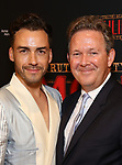 """Tommy Tonge and John Logan attends the Broadway Opening Night performance After Party for """"Moulin Rouge! The Musical"""" at the Hammerstein Ballroom on July 25, 2019 in New York City."""