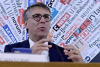 Roma, 17 Ottobre 2019<br /> Il presidente dell'Anac (Autorità Nazionale anticorruzione) Raffaele Cantone,presso la Stampa estera,  nell'ultimo evento pubblico prima di rientrare in magistratura, presenta un dossier sui casi di corruzione registrati in Italia nell'ultimo triennio.