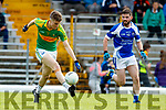 Robert Wharton South Kerry in action against Padraig Griffin Kerins O'Rahillys in the Kerry Senior Football Championship Semi Final at Fitzgerald Stadium on Saturday.
