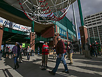 Fans enter the gates on opening day for the Reno Aces at Greater Nevada Field in Reno, Nevada on Tuesday, April 9, 2019.