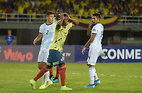 PEREIRA - COLOMBIA, 18-01-2020: Edwin Cetre de Colombia lamenta fallar una opción de gol durante partido entre Colombia y Argentina por la fecha 1, grupo A, del CONMEBOL Preolímpico Colombia 2020 jugado en el estadio Hernán Ramírez Villegas de Pereira, Colombia. /  Edwin Cetre of Colombia rects after losing a goal opportunity during the match between Colombia and Argentina for the date 1, group A, for the CONMEBOL Pre-Olympic Tournament Colombia 2020 played at Hernan Ramirez Villegas stadium in Pereira, Colombia. Photo: VizzorImage / Mauricio Ortiz / Cont