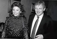 1987 <br /> Marsha Mason Anthony Hopkins <br /> Photo By John Barrett-PHOTOlink.net/MediaPunch