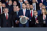 King Felipe VI of Spain during King's Cup Finals match between Sevilla FC and FC Barcelona at Wanda Metropolitano in Madrid, Spain. April 21, 2018. (ALTERPHOTOS/Borja B.Hojas)