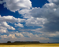 Cloud formations above Table Rock near Shiprock; Navajo Nation, NM