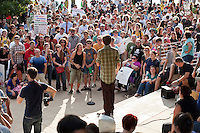 Occupy Austin inspired thousands of people who came together to air grievances about corporate greed, a scarcity of jobs and the growing income gap.