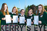 JUNIOR: Just after receiving their Junior Certs were students of Killorglin Community College,on Wednesday l-r: Tara and Marie O'Connor,Megan Gamble,Lauren HUrley and Sarah O'Brien (Killorglin).