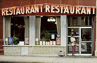 1985 File Photo - Montreal (qc) CANADA -  Restaurant