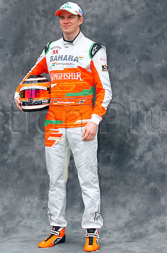 15.03.2012. Melbourne, Australia.  German Formula One driver Nico Huelkenberg of Force India during the photo session at the paddock before the Australian Formula 1 Grand Prix at the Albert Park circuit in Melbourne, Australia, 15 March 2012. The Formula One Grand Prix of Australia will take place on 18 March 2012.