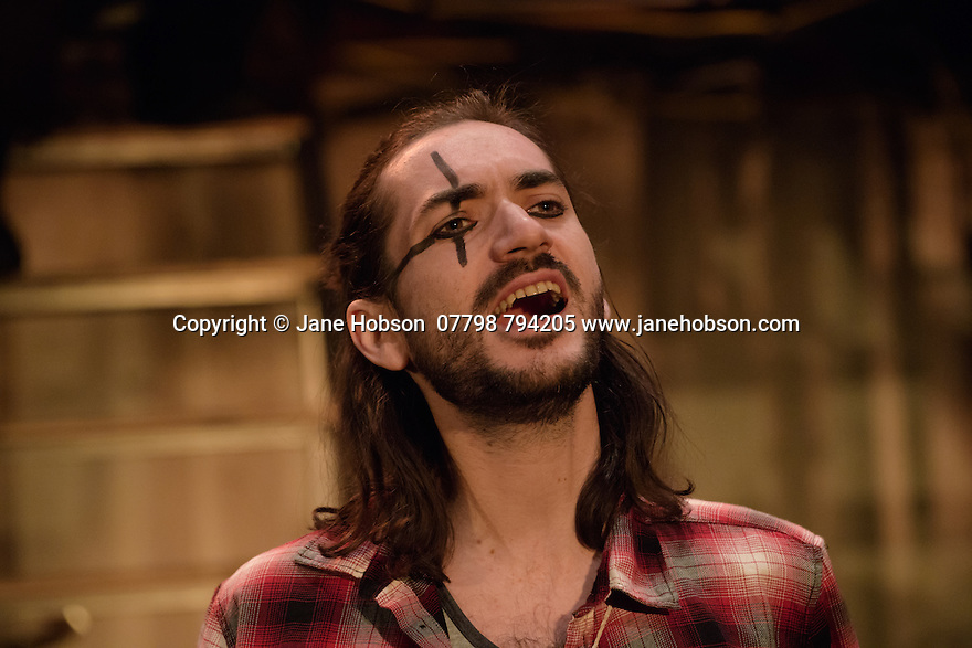 The Busker's Opera, by Dougal Irvine, opens at the Park Theatre.  Directed by Lotte Wakeham, with set design by Anna Kezia Williams and lighting design by Christopher Nairne. Picture shows: George Maguire (Macheath).