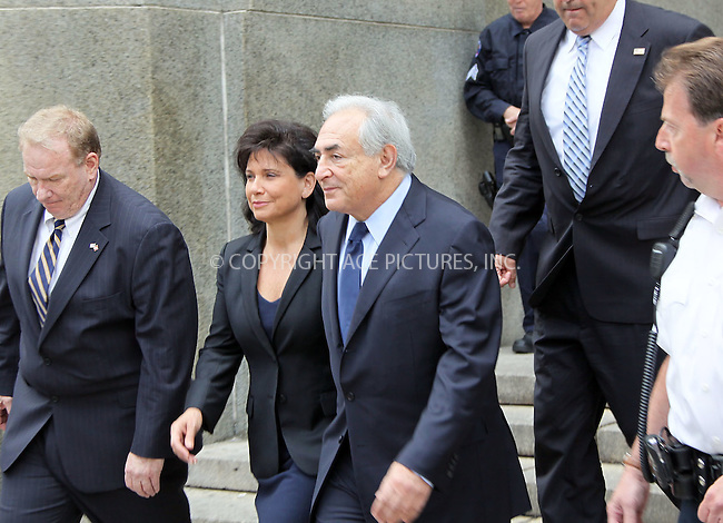 WWW.ACEPIXS.COM . . . . .  ....June 6 2011, New York City....Former head of the IMF Dominique Strauss-Kahn and his wife Anne Sinclair leaving the Manhattan Criminal court follwing his 'Not Guilty' plea to sex-related charges on June 6 2011 in New York City....Please byline: CURTIS MEANS - ACE PICTURES.... *** ***..Ace Pictures, Inc:  ..Philip Vaughan (212) 243-8787 or (646) 679 0430..e-mail: info@acepixs.com..web: http://www.acepixs.com