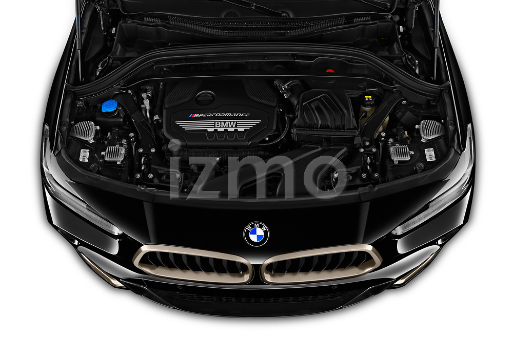 Car Stock 2019 BMW X2 M35 5 Door SUV Engine  high angle detail view