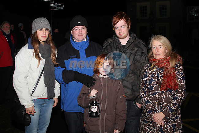 Carme Riutord with Martin, Fintin, Odhran and Michelle Creagh at the Ghost Tour at Millmount...(Photo credit should read Jenny Matthews www.newsfile.ie)....This Picture has been sent you under the condtions enclosed by:.Newsfile Ltd..The Studio,.Millmount Abbey,.Drogheda,.Co Meath..Ireland..Tel: +353(0)41-9871240.Fax: +353(0)41-9871260.GSM: +353(0)86-2500958.email: pictures@newsfile.ie.www.newsfile.ie.
