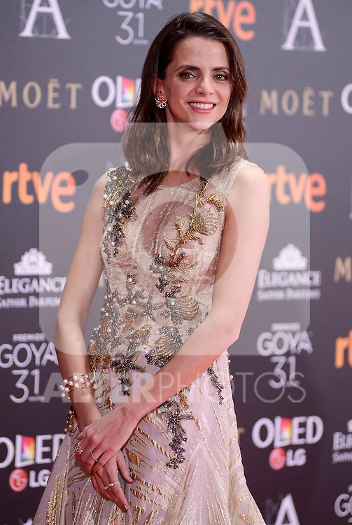 Macarena Gomez attends to the Red Carpet of the Goya Awards 2017 at Madrid Marriott Auditorium Hotel in Madrid, Spain. February 04, 2017. (ALTERPHOTOS/BorjaB.Hojas)