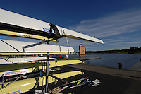 Motherwell, SCOTLAND.  GV's boathouse and Finish Tower area.  2007 FISA U23 World Championship Regatta, Strathclyde Country Park, North Lanarkshire 28/07/2007 [Mandatory credit Peter Spurrier/ Intersport Images] , Equipment