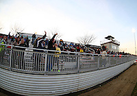 BOYDS, MARYLAND - April 06, 2013:  Fans of The Washington Spirit before the game against the University of Virginia women's soccer team in a NWSL (National Women's Soccer League) pre season exhibition game at Maryland Soccerplex in Boyds, Maryland on April 06. Virginia won 6-3.