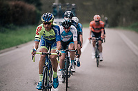 breakaway group racing between the drops...<br /> <br /> 58th De Brabantse Pijl 2018 (1.HC)<br /> 1 Day Race: Leuven - Overijse (BEL/202km)
