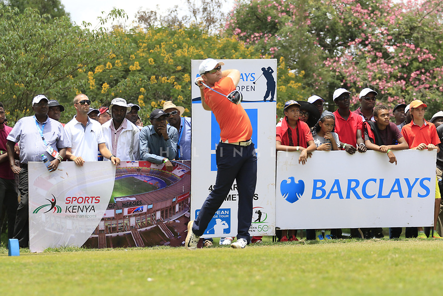 Philipp Mejow (GER) during the final round of the Barclays Kenya Open played at Muthaiga Golf Club, Nairobi, Kenya 22nd - 25th March 2018 (Picture Credit / Phil Inglis) 22/03/2018<br /> <br /> <br /> All photo usage must carry mandatory copyright credit (&copy; Golffile | Phil Inglis)