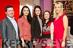 Ciarán McMahon, Aisling Ryan, Julia Ebner, Ciara Riordan and Jane Last, attending the Women in Media event, in Ballybunion on Sunday last.