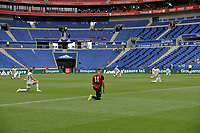 16th July 2020; Nice, France; Veolia Trohy Football friendly, OGC Nice versus Celtic FC;  Players on both teams take a knee