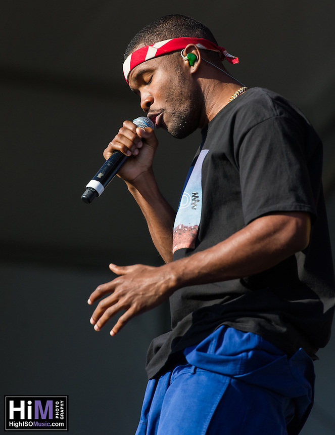 Frank Ocean performs at the 2013 Jazz and Heritage Festival in New Orleans, LA on May 4, 2013.  © HIGH ISO Music, LLC / Retna, Ltd.