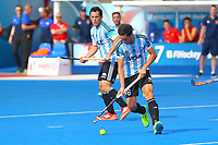 Lucas Ray of Argentina in action during the Hockey World League Semi-Final match between England and Argentina at the Olympic Park, London, England on 18 June 2017. Photo by Steve McCarthy.